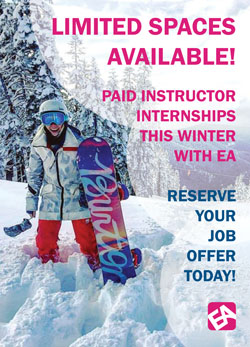 Paid instructor internships this winter with EA Ski