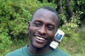 Kenyan man with phone in ear from The Leap